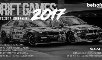 Svētdien, 22.oktobrī Drift games 2017