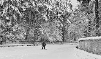 Atvērta distanču slēpošanas trase Biķerniekos